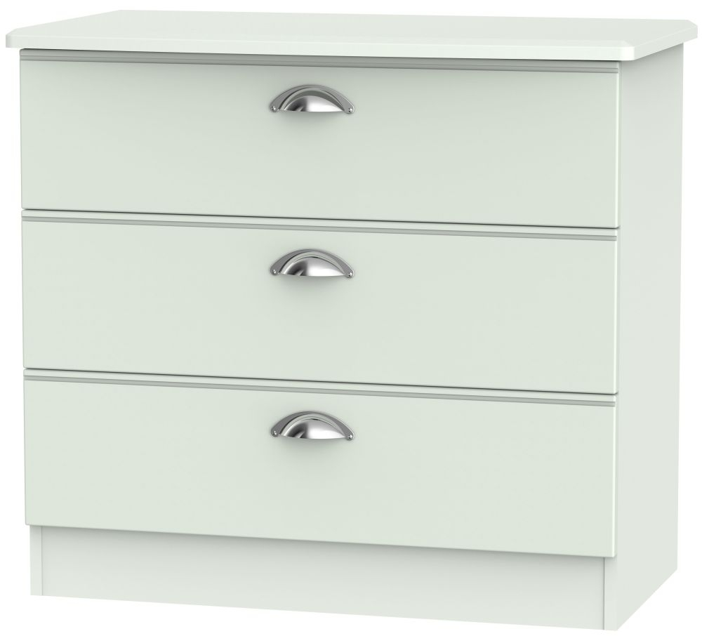 Victoria Grey Matt 3 Drawer Chest