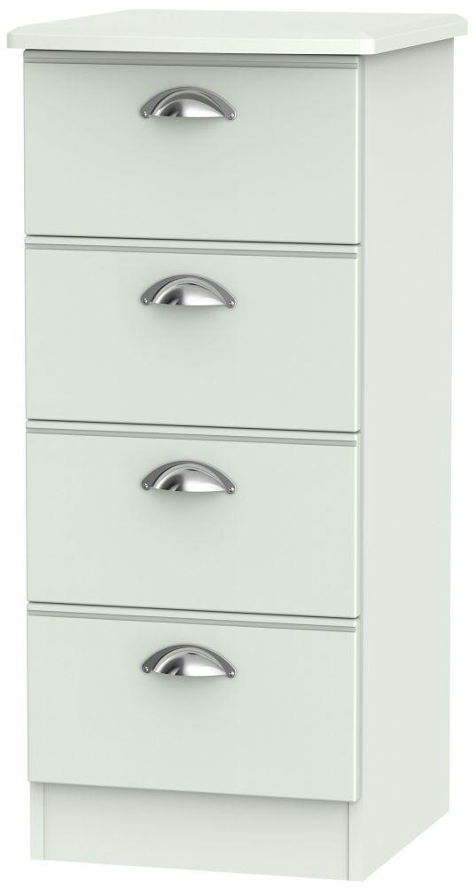 Victoria Grey Matt Chest of Drawer - 4 Drawer Locker