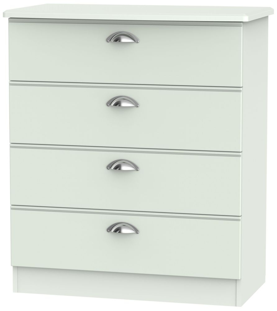 Victoria Grey Matt 4 Drawer Chest