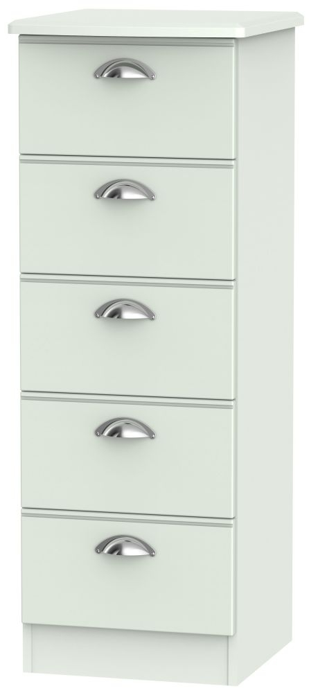 Victoria Grey Matt Chest of Drawer - 5 Drawer Locker