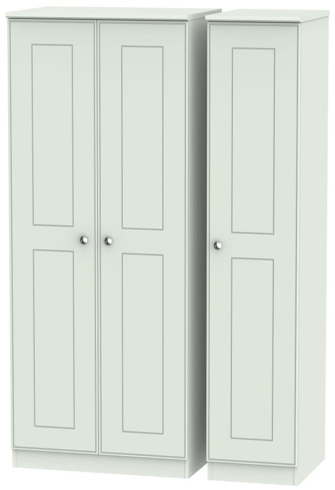 Victoria Grey Matt 3 Door Plain Triple Wardrobe