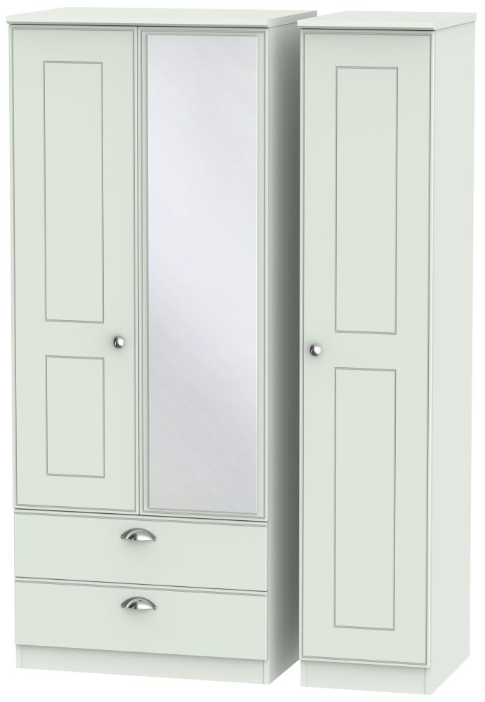 Victoria Grey Matt 3 Door 2 Left Drawer Combi Wardrobe