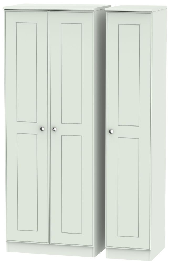 Victoria Grey Matt 3 Door Tall Wardrobe