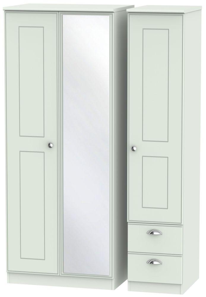 Victoria Grey Matt 3 Door 2 Right Drawer Combi Wardrobe