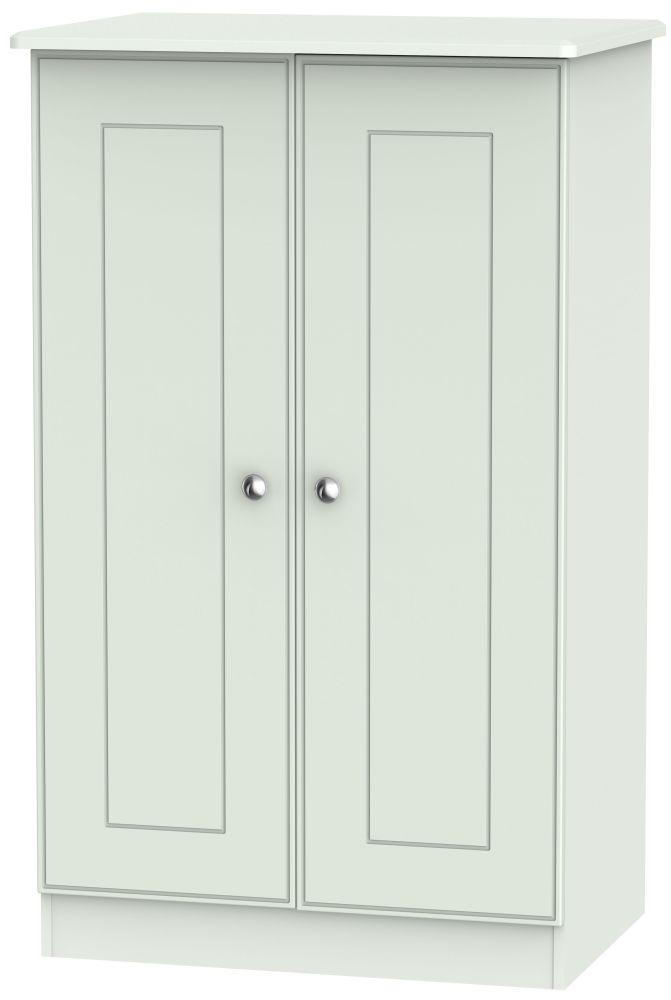 Victoria Grey Matt 2 Door Midi Wardrobe