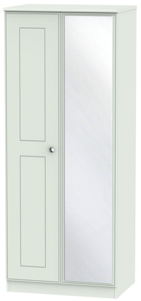 Victoria Grey Matt Wardrobe - 2ft 6in with Mirror
