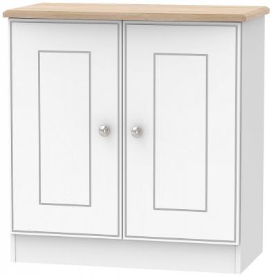 Victoria 2 Door Hall Unit - White Ash and Riviera Oak