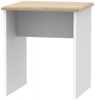 Victoria Lamp Table - White Ash and Riviera Oak