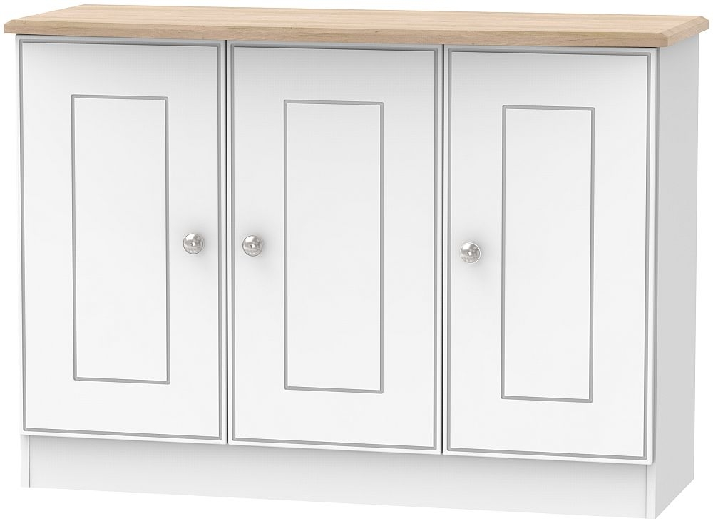 Victoria 3 Door Sideboard - White Ash and Riviera Oak