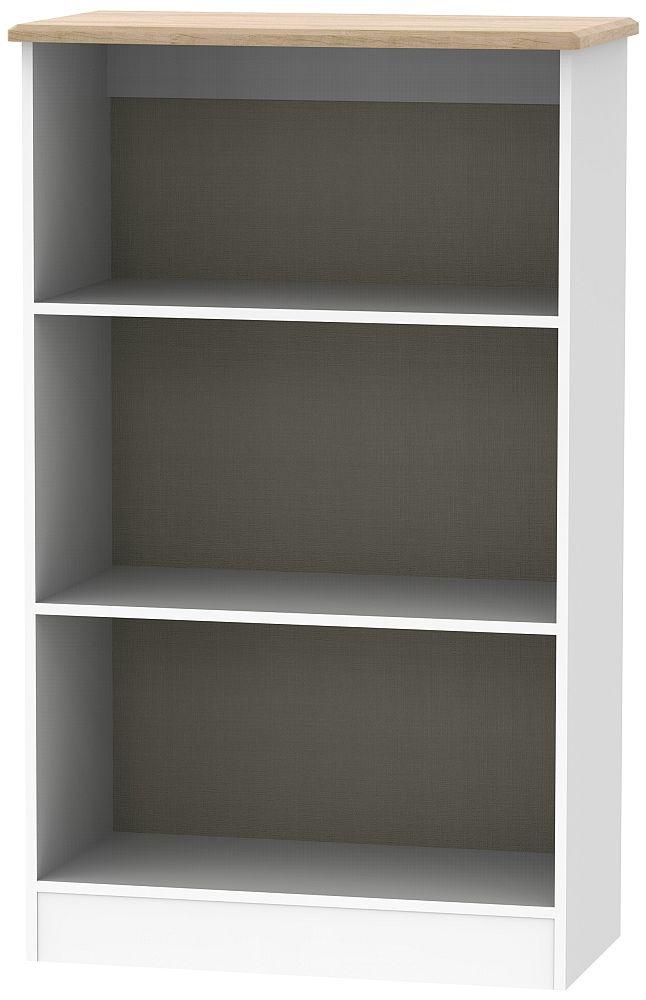 Victoria Bookcase - White Ash and Riviera Oak