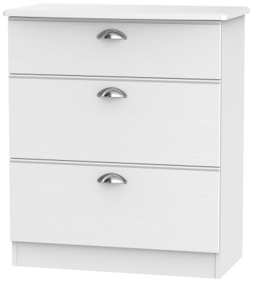 Victoria White Ash 3 Drawer Deep Chest