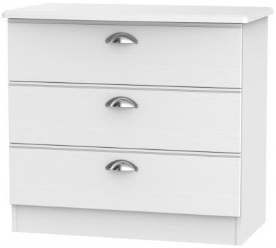 Victoria White Ash 3 Drawer Chest