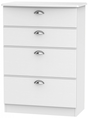Victoria White Ash 4 Drawer Deep Chest