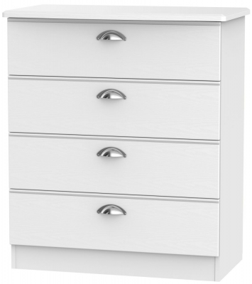 Victoria White Ash 4 Drawer Chest