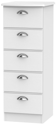 Victoria White Ash 5 Drawer Tall Chest