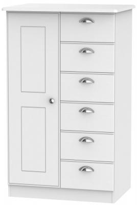 Victoria White Ash 1 Door Children Wardrobe