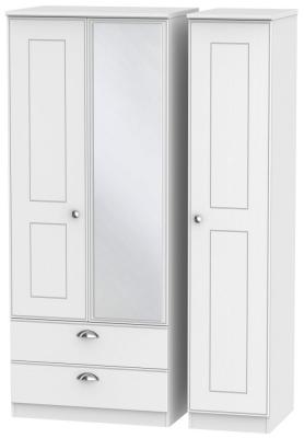 Victoria White Ash 3 Door 2 Left Drawer Combi Wardrobe