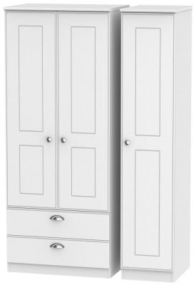 Victoria White Ash 3 Door 2 Left Drawer Wardrobe