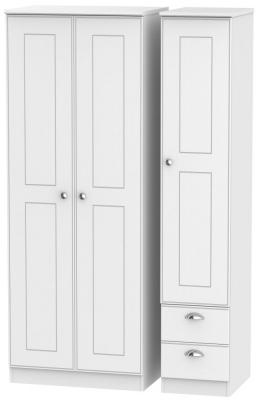 Victoria White Ash 3 Door 2 Right Drawer Wardrobe
