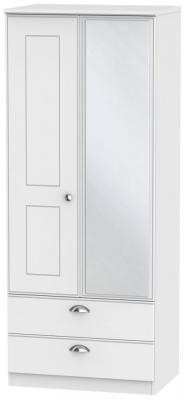 Victoria White Ash 2 Door Combi Wardrobe