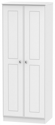 Victoria White Ash 2 Door Tall Hanging Wardrobe