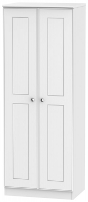 Victoria White Ash 2 Door Tall Wardrobe