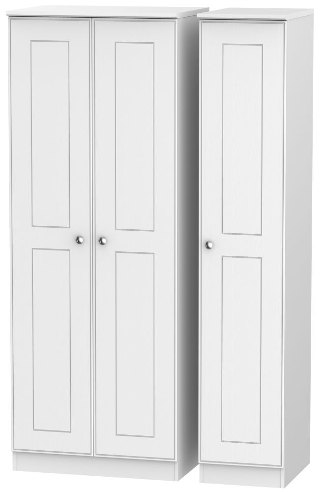 Victoria White Ash 3 Door Tall Wardrobe