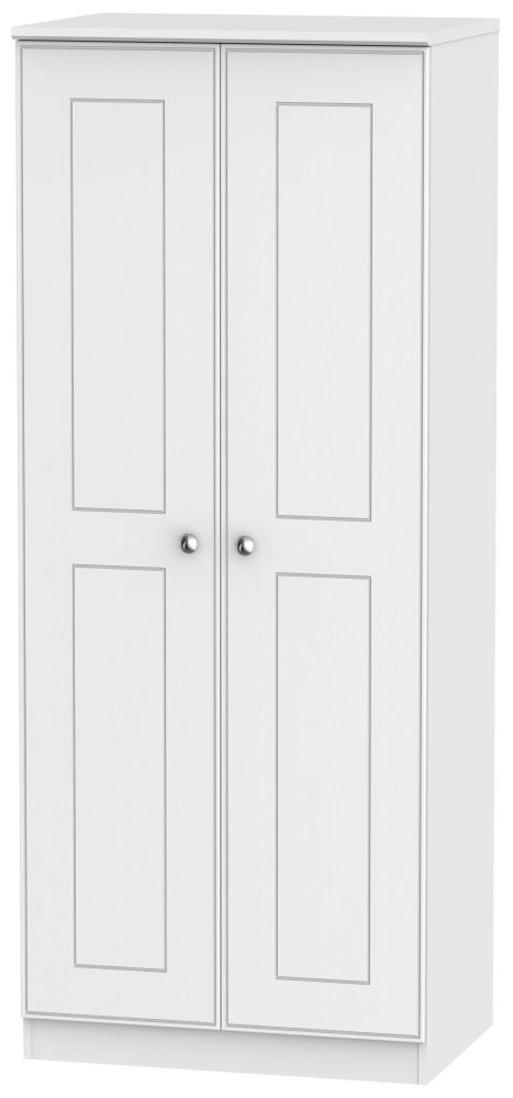 Victoria White Ash 2 Door Wardrobe