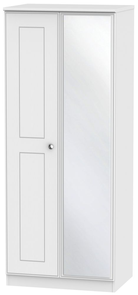 Victoria White Ash 2 Door Mirror Wardrobe