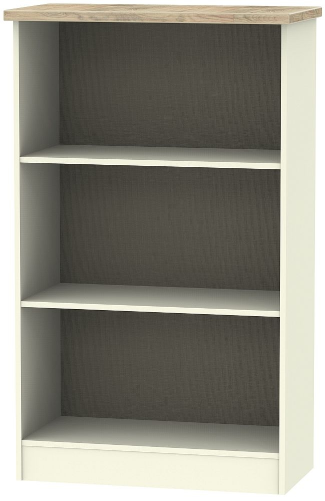 Vienna Bookcase - Cream Ash and Bordeaux Oak