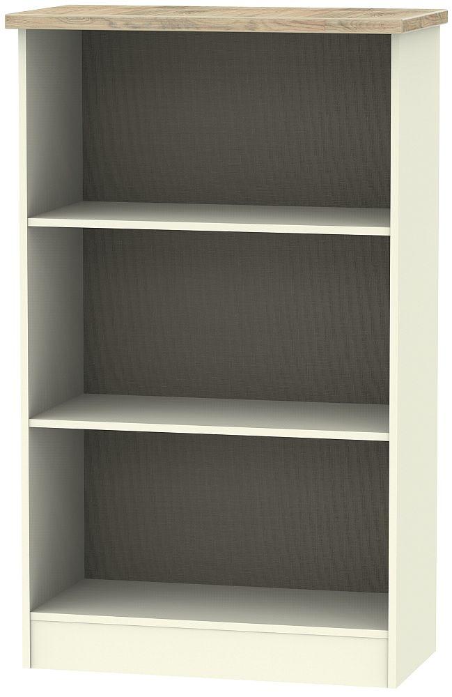 Vienna Bookcase - Cream Ash and Bordeaux Oak