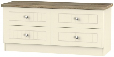 Vienna Cream Ash Bed Box - 4 Drawer