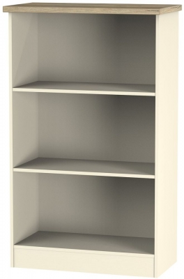 Vienna Cream Ash Bookcase - 2 Shelves