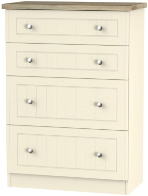 Vienna Cream Ash Chest of Drawer - 4 Drawer Deep