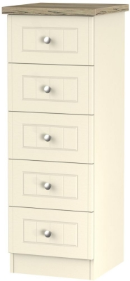 Vienna Cream Ash Chest of Drawer - 5 Drawer Locker