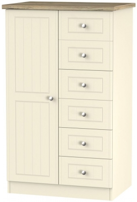 Vienna Cream Ash 1 Door Children Wardrobe