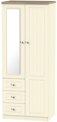 Vienna Cream Ash 2 Door 3 Drawer Combi Wardrobe