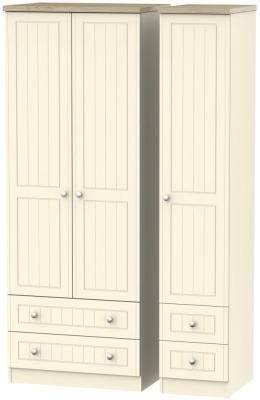 Vienna Cream Ash 3 Door 4 Drawer Tall Wardrobe