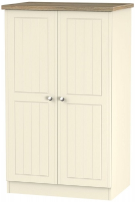 Vienna Cream Ash 2 Door Midi Wardrobe