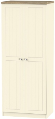 Vienna Cream Ash 2 Door Wardrobe