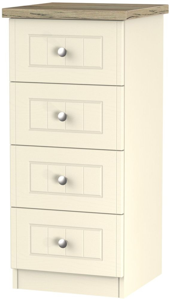 Vienna Cream Ash 4 Drawer Locker Chest