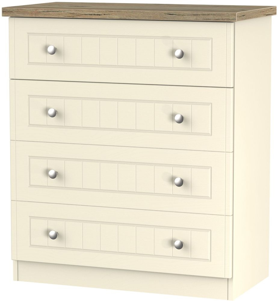 Vienna Cream Ash Chest of Drawer - 4 Drawer