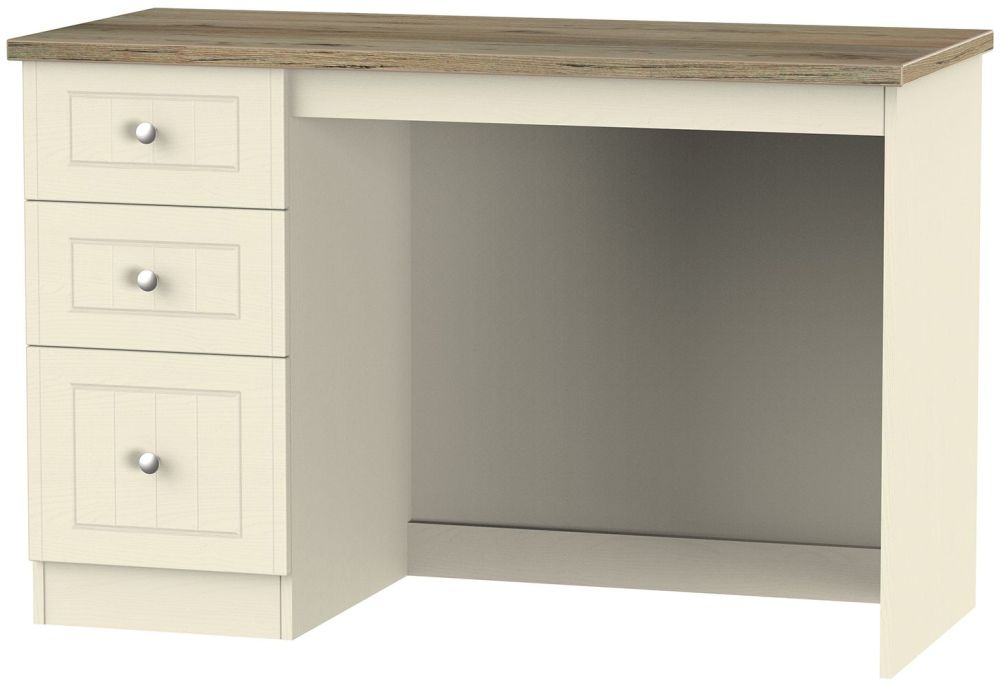 Vienna Cream Ash Desk - 3 Drawer