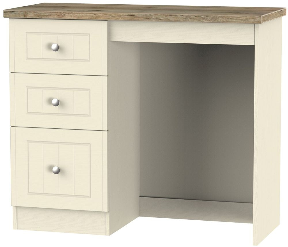 Vienna Cream Ash Dressing Table - 3 Drawer Vanity