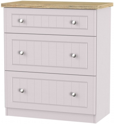Vienna Kaschmir Ash Chest of Drawer - 3 Drawer Deep
