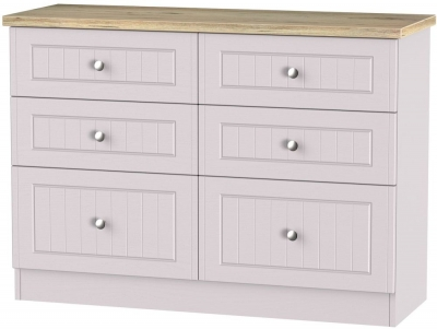 Vienna Kaschmir Ash Chest of Drawer - 6 Drawer Midi
