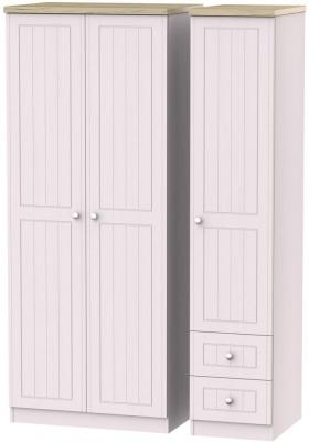 Vienna Kaschmir Ash 3 Door 2 Right Drawer Wardrobe