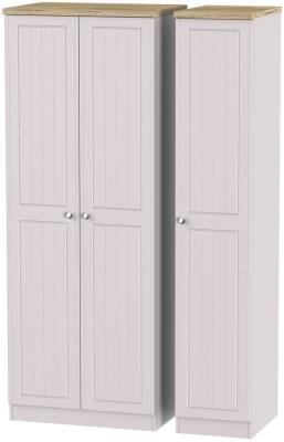 Vienna Kaschmir Ash 3 Door Tall Plain Wardrobe