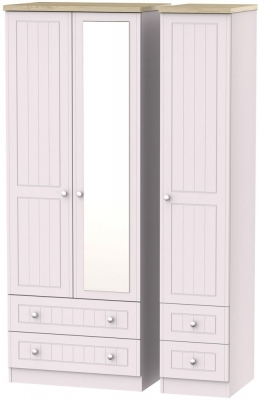 Vienna Kaschmir Ash 3 Door 4 Drawer Tall Combi Wardrobe