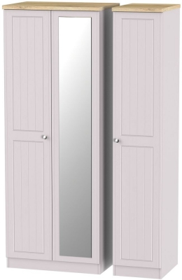 Vienna Kaschmir Ash 3 Door Tall Mirror Wardrobe